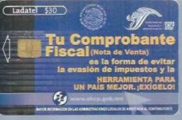 LADATEL 30 -  TU COMPROBANTE  - Puce ? - MEXIQUE - Mexique