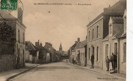 LA FRESNAYE SOUS CHEDOUET  ( 72 ) - La Rue Principale - France