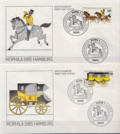 Germany Pair On 2 FDCs From 1985 - Post