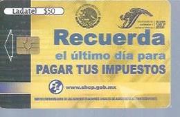 LADATEL 50 -  RECUERDA  - Puce ? - MEXIQUE - Mexique