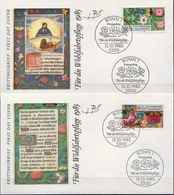 Germany Set On 4 FDCs From 1985 - Art