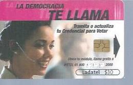 LADATEL 30 -  TE LLAMA - Puce Différente ? - MEXIQUE - Mexique