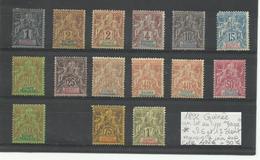 1892 Guinée Lot Type Groupe Neufs * Cote YT 402€ - Ungebraucht