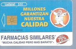 LADATEL 30 -  FARMACIAS SIMILARES  - Puce  GEM - MEXIQUE - Mexique
