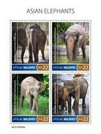 Maldives. 2019 Asian Elephants. (0508a)  OFFICIAL ISSUE - Elephants