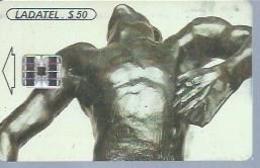 LADATEL 50 -  A. RODIN  - Puce  SC7 - MEXIQUE - Mexique