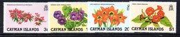 APR2099 - CAYMAN 1981,  Serie Yvert N. 485/488  ***  MNH   (2380A)  Fiori - Cayman (Isole)