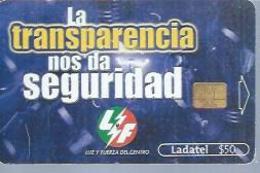 LADATEL 50 -  LA TRANSPARENCIA NOS DA SEGURIDAD  - Puce  ? - MEXIQUE - Mexique