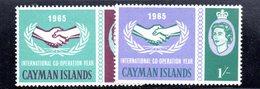 CI633 - CAYMAN 1965,  Serie Yvert N. 178/179  ***  MNH   (2380A)  Cooperazione - Cayman (Isole)