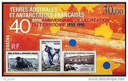 """TAAF Bloc YT 2 BF """" 40e Anniversaire De La Création Du Territoire """" 1995 Neuf** - Blocs-feuillets"""