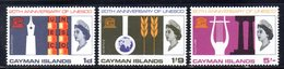 CI731 - CAYMAN 1966,  Serie Yvert N. 190/192  ***  MNH   (2380A)  UNESCO - Cayman (Isole)