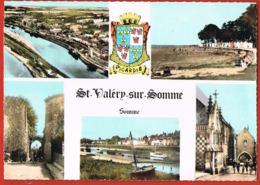 ST-VALERY-sur-SOMME -Somme Multivues -Blason Picardie-  Cpsm écrite Au Verso - Paypal Sans Frais - Saint Valery Sur Somme