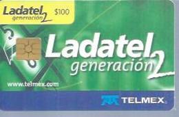 LADATEL 100 -  LADATEL GENERATION 2  - Puce  GEM - MEXIQUE - Mexique