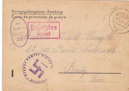 ALLEMAGNE. BONN. CORRESPONDANCE IDENTITÉ MILITAIRE. KRIEGSGEFANGENENPOST. STALAG VI G. ENVOI DU 13 SEPTEMBRE 1940 - 1939-45