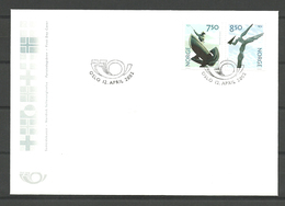 Norway 2002 Norden: Art From 20ith Century   Mi 1430-1431. FDC - Storia Postale