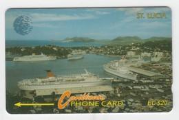 Saint Lucia GPT Phonecard (Fine Used) Code 9CSLB - Santa Lucía