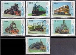 1999Uzbekistan186-92Locomotives8,00 € - Trains