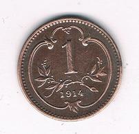 1 HELLER 1914 OOSTENRIJK /5965/ - Oesterreich