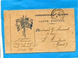 MARCOPHILIE-Guerre 14-18-carte FM Mod DESERNY  Cad 1915-SP 173 - Marcophilie (Lettres)