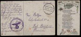 3. Reich - DR Feldpost Lied Postkarte : Gebraucht Feldpost Nr. 37580 - Borgfeld Bremen 1940 , Bedarfserhaltung Mit Män - Briefe U. Dokumente