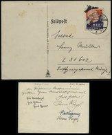 3. Reich - DR Ostmark Feldpost Postkarte Churchill , Wert Keinen Pfennig: Gebraucht Pöchlarn - LGPA München 1940, Beda - Briefe U. Dokumente