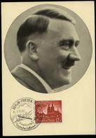 3. Reich - DR Postkarte ,Adolf Hitler: Gebraucht Mit Sonderstempel Luftpostausstellung Berlin 1941 - Briefe U. Dokumente