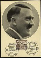 3. Reich - DR Postkarte ,Adolf Hitler: Gebraucht Mit Sonderstempel Mussolini München 1940 - Briefe U. Dokumente