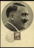 3. Reich - DR Postkarte ,Adolf Hitler: Gebraucht Mit Sonderstempel V. Horthy Kiel  1938 - Briefe U. Dokumente