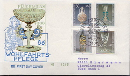 Germany Set On Used FDC From 1986 - Glasses & Stained-Glasses