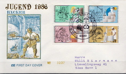 Germany Set On Used FDC From 1986 - Unclassified
