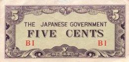 Burma 5 Cents, P-10a (1942) - AUnc - Myanmar