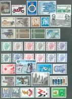 BELGIUM - 1971 - MNH/***LUXE -  JAAR ANNEE YEAR 1971 - QUOTATION 24.00 EUR FACIALE 327.75 BEF  - Lot 20118 - Años Completos
