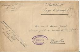 Portvrije Brief Van BAELEN(NETHE) Via Censuur Van Turnhout Naar Brussel (1916) - [OC1/25] Gouv. Gén.