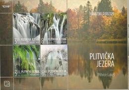HR 2019-1397-400, CROATIAN TURISAM - PLITVICE LAKES, CROATIA HRVATSKA, S/S, MNH - Croatie