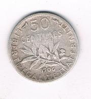 50 CENTIMES 1906 FRANKRIJK /5977/ - France