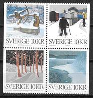 Suède 2006 N°2538/2541 Neufs Peintures Su L'hiver - Schweden
