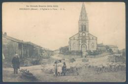 55 BRIZEAUX Meuse L'Eglise Et La Place - Francia