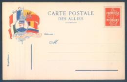 Lot De 7 Cartes Carte Postale Des Alliés Franchise Militaire Guerre 14/18 - Weltkrieg 1914-18