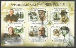 Mozambique  2011 Charles De GAULLE Sir Winston CHURCHILL Harry S TRUMAN Dwight D EISENHOWER  MNH - De Gaulle (Generale)
