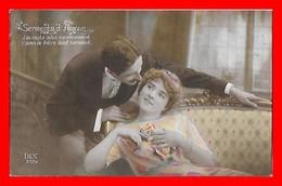 CPA  COUPLES.  Serments D'Amour. Jolie Femme Et Son Amoureux...J475 - Couples