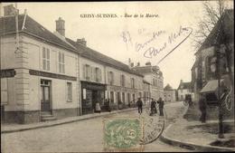 Cp Grisy Suisnes Seine Et Marne, Rue De La Mairie - Autres Communes