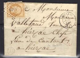 Hiersac (Charente) : LAC, Càd 15, PC 1519 Sur N°13, Boite B (La Goutille) Identifiée, Correspondance Locale, 1858. - Marcophilie (Lettres)