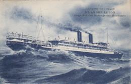 """Transports - Bâteaux - Compagnie Messageries Maritimes - Le S.S. """"André Lebon"""" - Editeur Grimaud - Paquebots"""