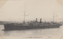 "Transports - Bâteaux - Compagnie Messageries Maritimes - Le S.S. ""Chili"" - Paquebots"