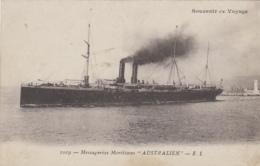 """Transports - Bâteaux - Compagnie Messageries Maritimes - Le S.S. """"Australien"""" - Paquebots"""