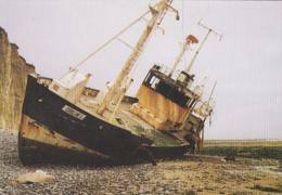 """Catastrophe - Bâteaux Pêche - Echouage Du Chalutier """"Coralline"""" 26.2.88 - Saint-Aubin-sur-Mer - Catastrophes"""