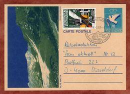 P 83 Taube Abb Alpe Matta + ZF Baugewerbe, Nendeln Nach Duesseldorf 1987 (77501) - Ganzsachen