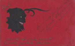 Croyance - Religion - Diable - Devil - Cartes Postales - Postmarked Mulhausen Mulhouse Lérouville 1907 - Christianisme