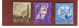 EGITTO (EGYPT) - SG 557.559  - 1958 NATIONAL SYMBOLS (INSCR. UAR)  - USED ° - Usati