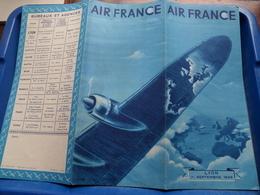 AIR FRANCE Lyon 1er Sept 1949 ( Depliant / Folder / Brochure / Voir Photo ) Réf : 338/P/3-49 / Perceval ! - Dépliants Touristiques